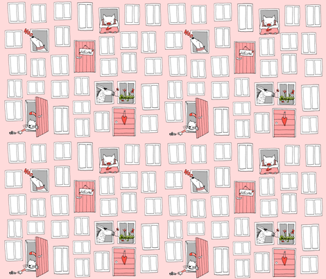 SteffFabricsFarmerStylePink fabric by steffstyle on Spoonflower - custom fabric