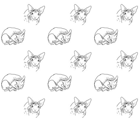 sphynxes_s fabric by smilinthyme on Spoonflower - custom fabric