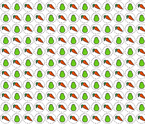 Carrots & Pears fabric by you_me_&_the_cats on Spoonflower - custom fabric