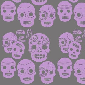 Purple Sugar Skulls
