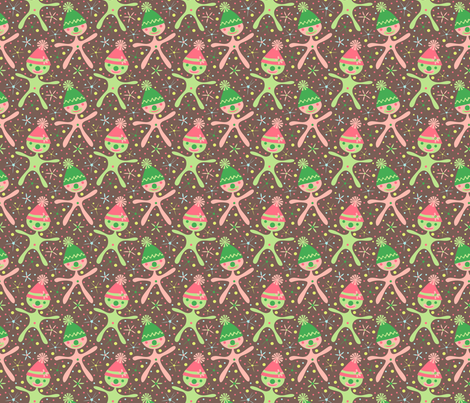 Harper's Happy Clowns (brown) fabric by mktextile on Spoonflower - custom fabric