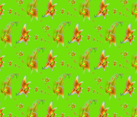 green_lillies fabric by farrellart on Spoonflower - custom fabric