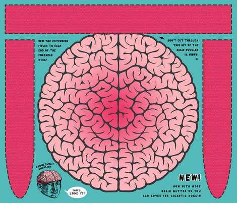 The Brainkerchief fabric by francine on Spoonflower - custom fabric