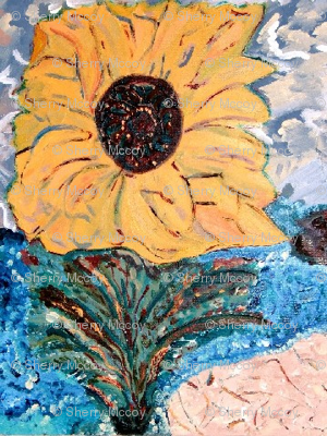 Sunflower by the Sea