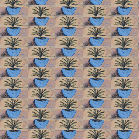 Blue Sea Tree fabric by sherryann on Spoonflower - custom fabric