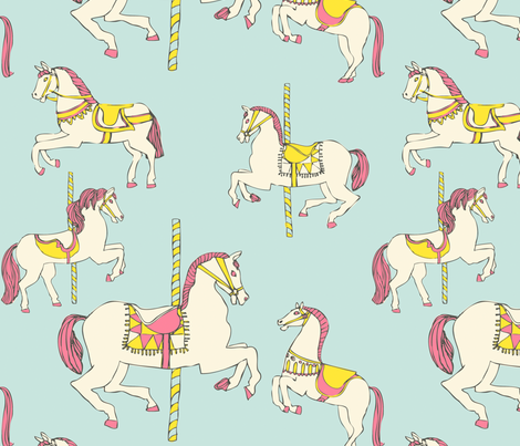 carousel fabric by comfortablyblue on Spoonflower - custom fabric