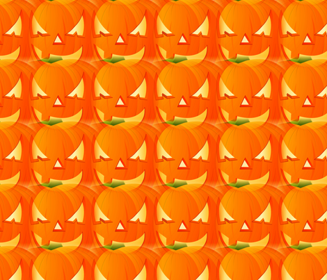 Jack-o-lanterns fabric by fit2betied on Spoonflower - custom fabric
