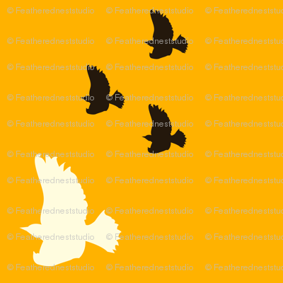 orange_background_with_black_and_white_birds