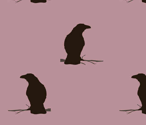 crow_fabric_purple fabric by featheredneststudio on Spoonflower - custom fabric