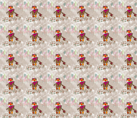 Baby_Hen fabric by snooky on Spoonflower - custom fabric
