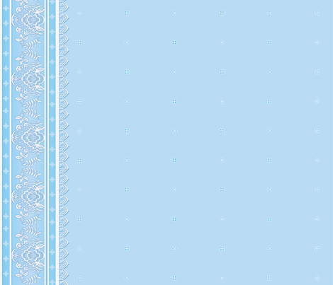 Blue Border fabric by jadegordon on Spoonflower - custom fabric