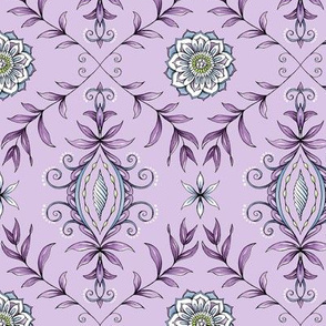 Nature's Damask - Purple