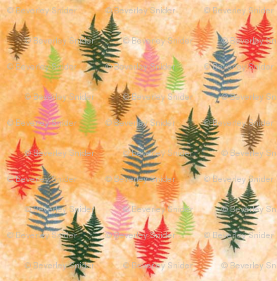 Spring_Ferns_on_Orange