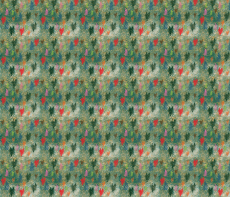 Spring_Ferns_on_Green fabric by snooky on Spoonflower - custom fabric
