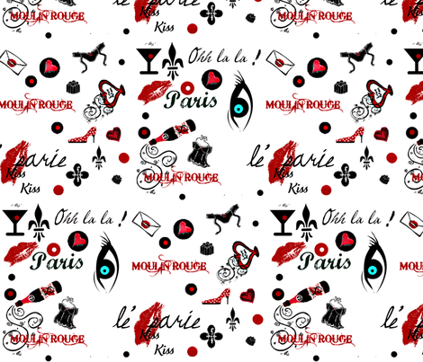 Miss Ohh la la ! fabric by paragonstudios on Spoonflower - custom fabric