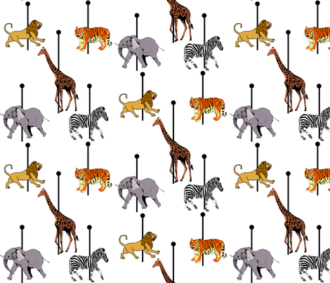 Carousel fabric by kikisews on Spoonflower - custom fabric