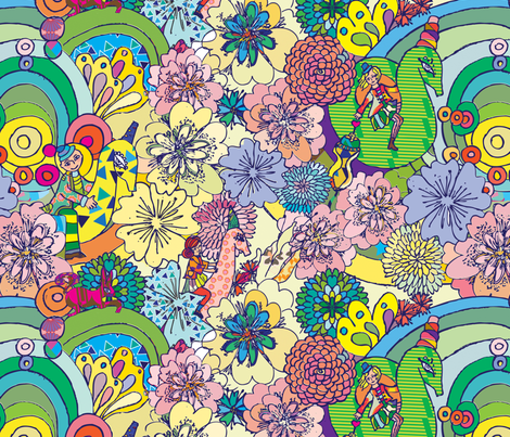 MagicHorse fabric by maruqui on Spoonflower - custom fabric