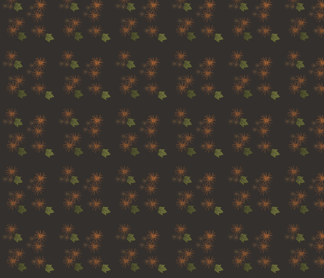 OrangeandBrownFlowers fabric by snooky on Spoonflower - custom fabric