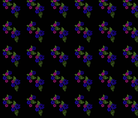 BlueandPinkFlowers fabric by snooky on Spoonflower - custom fabric