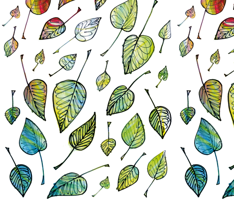 Leaves fabric by sandeehjorth on Spoonflower - custom fabric