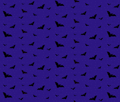 Batty Night fabric by robin_rice on Spoonflower - custom fabric