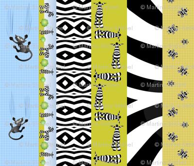 6 x border - belt - zebra