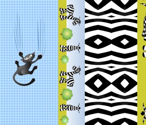 6 x border - belt - zebra fabric by vina on Spoonflower - custom fabric