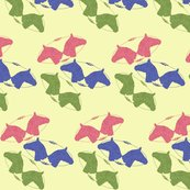 Rrtooled_leather_horse_heads_pink_blue_green_on_yellow_shop_thumb