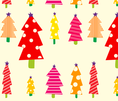 christmas_trees fabric by featheredneststudio on Spoonflower - custom fabric