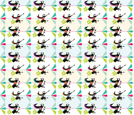 Carousel Ponies fabric by oddlyolive on Spoonflower - custom fabric