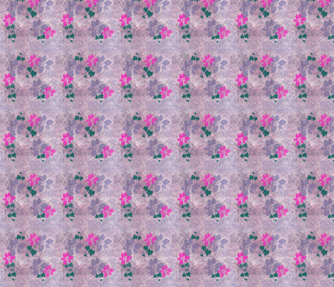 PinkandMauveFlowers fabric by snooky on Spoonflower - custom fabric