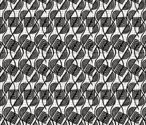 geometric black and white fabric by paulamarie on Spoonflower - custom fabric