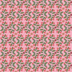 vintage floral brn sprig