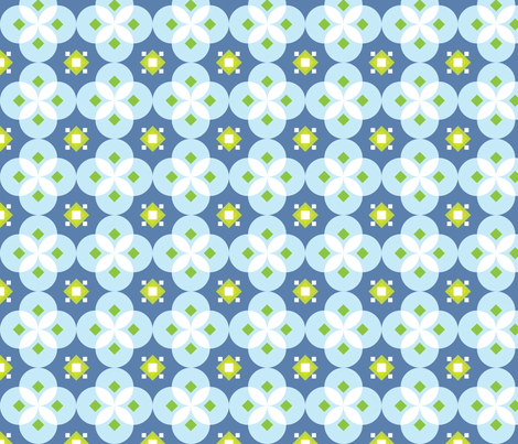 Blue Salsa fabric by audreyclayton on Spoonflower - custom fabric