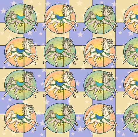 A Merry Carousel fabric by merryfool on Spoonflower - custom fabric