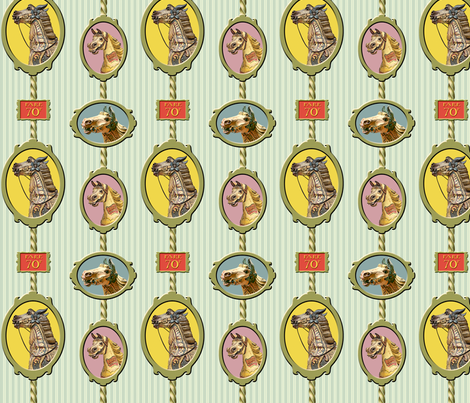 Carousel Horses fabric by sammyb on Spoonflower - custom fabric