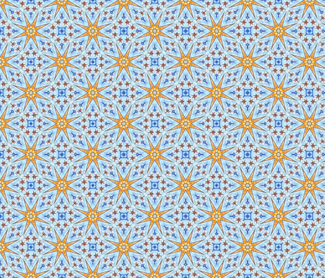 Crystalline Stars at the Fair fabric by rhondadesigns on Spoonflower - custom fabric