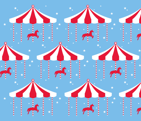 magic_carousel fabric by mariapopia on Spoonflower - custom fabric