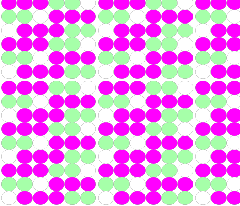 Pink Green White Dots