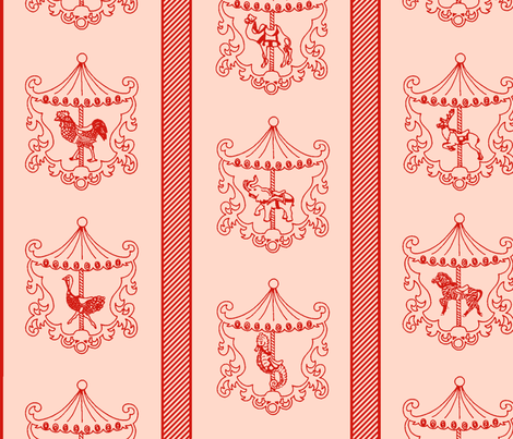 Animal Carousel Parade fabric by maghee on Spoonflower - custom fabric
