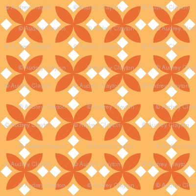Orange Diamond Flowers