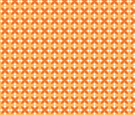 Orange Diamond Flowers fabric by audreyclayton on Spoonflower - custom fabric
