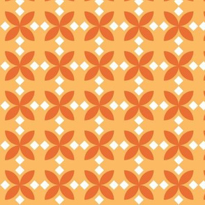 Orange Diamond Flowers