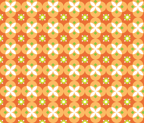 Orange Salsa fabric by audreyclayton on Spoonflower - custom fabric