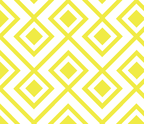 Connect the Blocks-Yellow fabric by honey&fitz on Spoonflower - custom fabric
