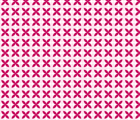 Pink Diamond Flowers fabric by audreyclayton on Spoonflower - custom fabric