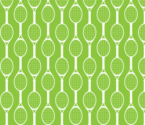 Green Rackets fabric by audreyclayton on Spoonflower - custom fabric