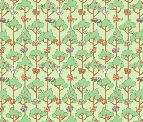 Forest Carousel fabric by jillianmorris on Spoonflower - custom fabric