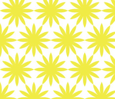 Starburst-Yellow fabric by honey&fitz on Spoonflower - custom fabric