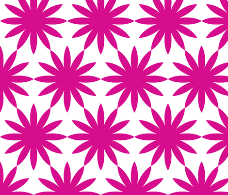 Starburst-Fuschia fabric by honey&fitz on Spoonflower - custom fabric